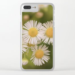 Little Vintage Daises Clear iPhone Case