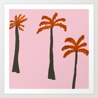 palms Art Prints featuring Palms by Georgiana Paraschiv