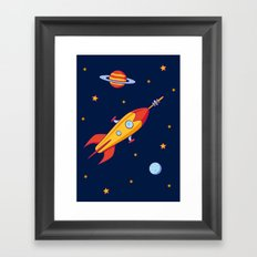 Spaceship! Framed Art Print