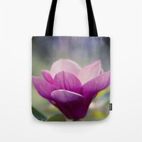 magnolia Tote Bags featuring magnolia by Sharon Mau