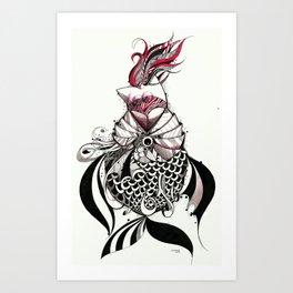 fish eat Art Print