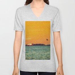 Island Sunset Unisex V-Neck