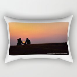 Love doesn't come in convenient packages. Rectangular Pillow