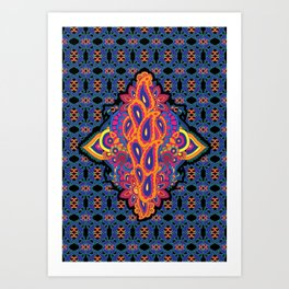 Indian Embroidery Art Print