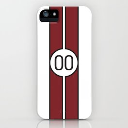 racing stripe .. #00 iPhone Case