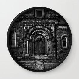 University College East Entrance Toronto Canada Wall Clock