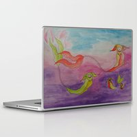 swimming Laptop & iPad Skins featuring Swimming by Esmeralda Snaphaan