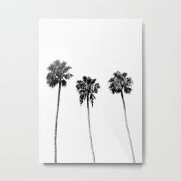 Black + White Palm Trees Metal Print