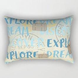 Explore Dream Discover Rectangular Pillow