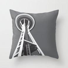 Space Needle Throw Pillow