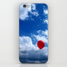 Red on Blue iPhone & iPod Skin