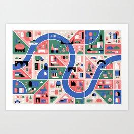 City Map Art Print