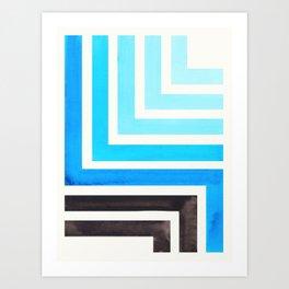 Cerulean Blue Art Print