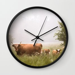 Cattle Family Wall Clock