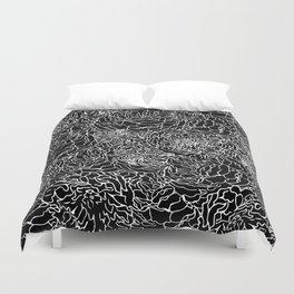 SPRING IN WHITE AND BLACK Duvet Cover
