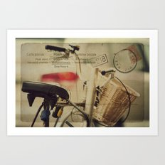 I just want to ride my bike today Art Print