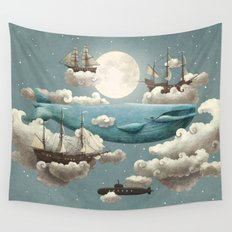 Ocean Meets Sky - colour option Wall Tapestry