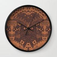 africa Wall Clocks featuring Africa by Akwaflorell