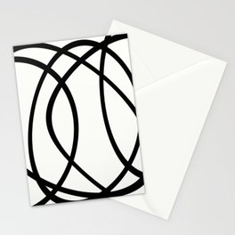 Community - Black and white abstract Stationery Cards