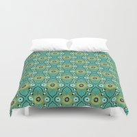 botanical Duvet Covers featuring Botanical by Alisse Courter