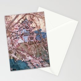 12,000pixel-500dpi - Yoshida Hiroshi - Cherry Blossoms 8scenes, Hirosaki Castle - Digital Remaster Stationery Cards