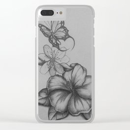 The flight of the butterfly Clear iPhone Case