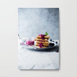 waffles for breakfast #society6 #decor #buyart Metal Print