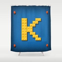 Letter K Initial Cap Shower Curtain