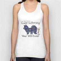 stiles stilinski Tank Tops featuring Stiles Stilinski's Guide to Petting Your Werewolf by Yiji