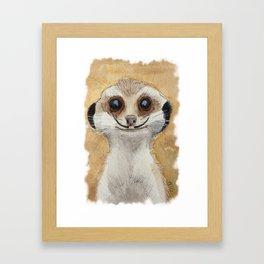 Meerkat 'Stache II Framed Art Print