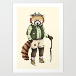 Red Panda Ranger Art Print
