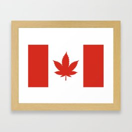 O Canada! (Hemp Flag) Framed Art Print