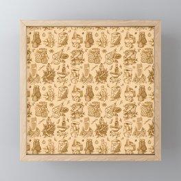 Food pattern Framed Mini Art Print