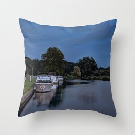 River Bure Coltishall at twilight Throw Pillow