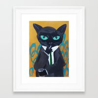 suit Framed Art Prints featuring Suit by Alia13