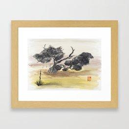 Coyote Ridge Tree Framed Art Print