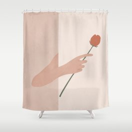 One Rose Flower Shower Curtain