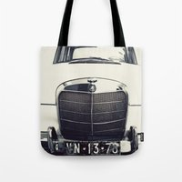mercedes Tote Bags featuring Benz by farsidian