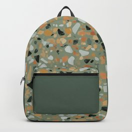 Terrazzo Texture Military Green #4 Backpack