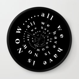 all we have is NOW ..... Wall Clock