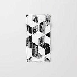 Elegant Black and White Geometric Design Hand & Bath Towel