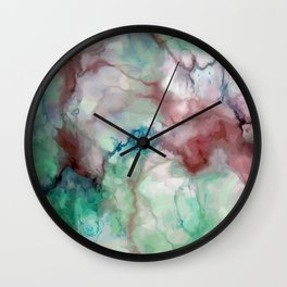 Colorful watercolor marble Wall Clock