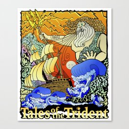 Tales of the Trident:Poseidon with Title Canvas Print