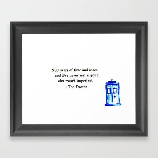 Doctor Who Print Framed Art Print
