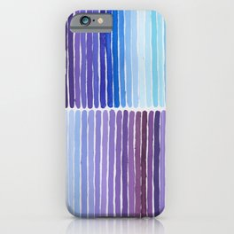 Blue and Purple Meditations iPhone Case