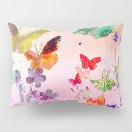 Blush Butterflies & Flowers Pillow Sham