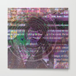 Mange Moi (and An Olde Face In Cyber Hell) [Recombinant Series] Metal Print