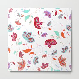 Whimsical Floral Metal Print