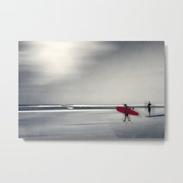 RED surfBoard 16 Metal Print