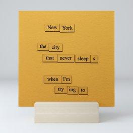 City That Never Sleeps Mini Art Print